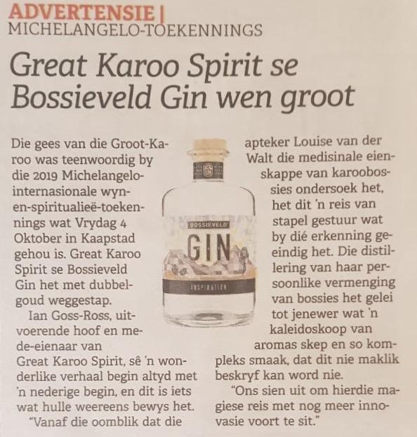 Bossieveld Artikel - Die Burger 9 Oct 2019